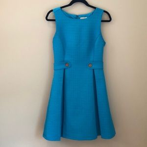 ModCloth blue textured fit & flare dress size Med